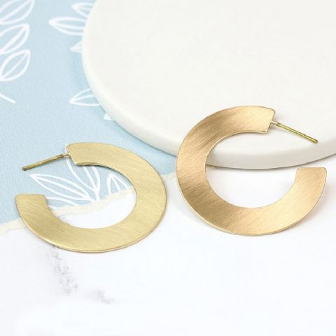 GOLD FLAT MATT HOOPS